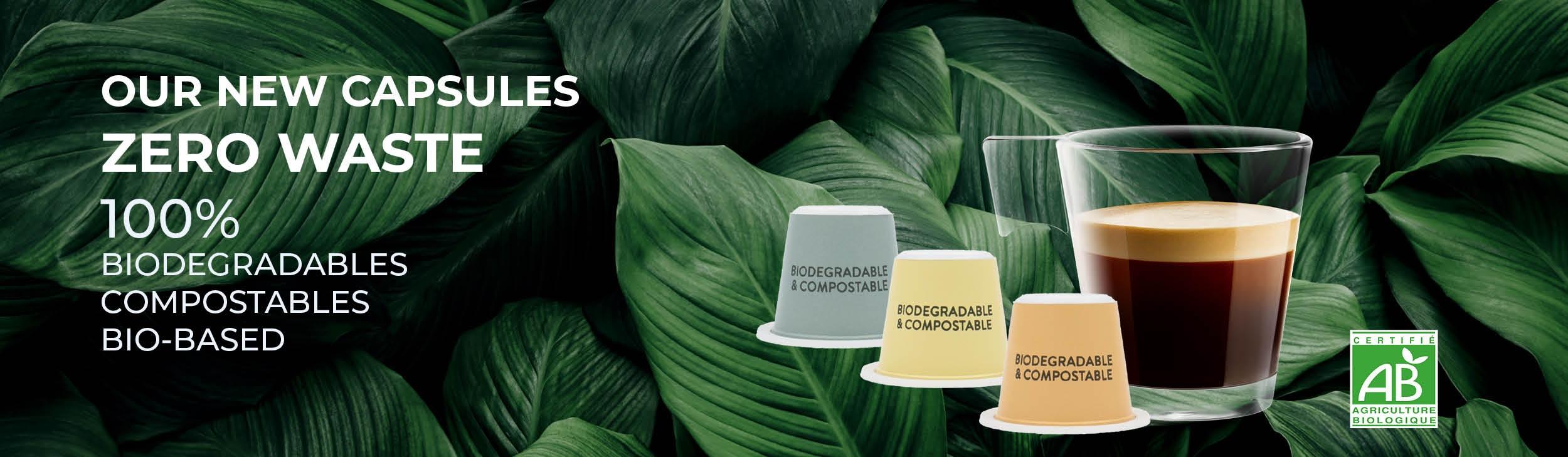 Biodegradable Organic Coffee Capsules